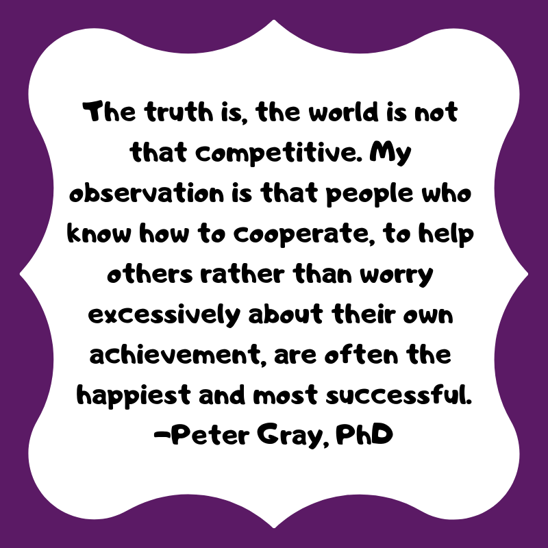 The truth is the world is not that competitive