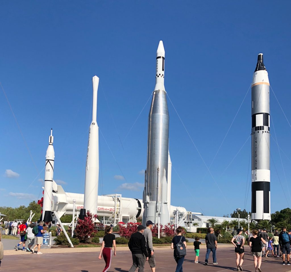 There were rockets everywhere at the NASA Kennedy Space Center ©Alison Escalante MD