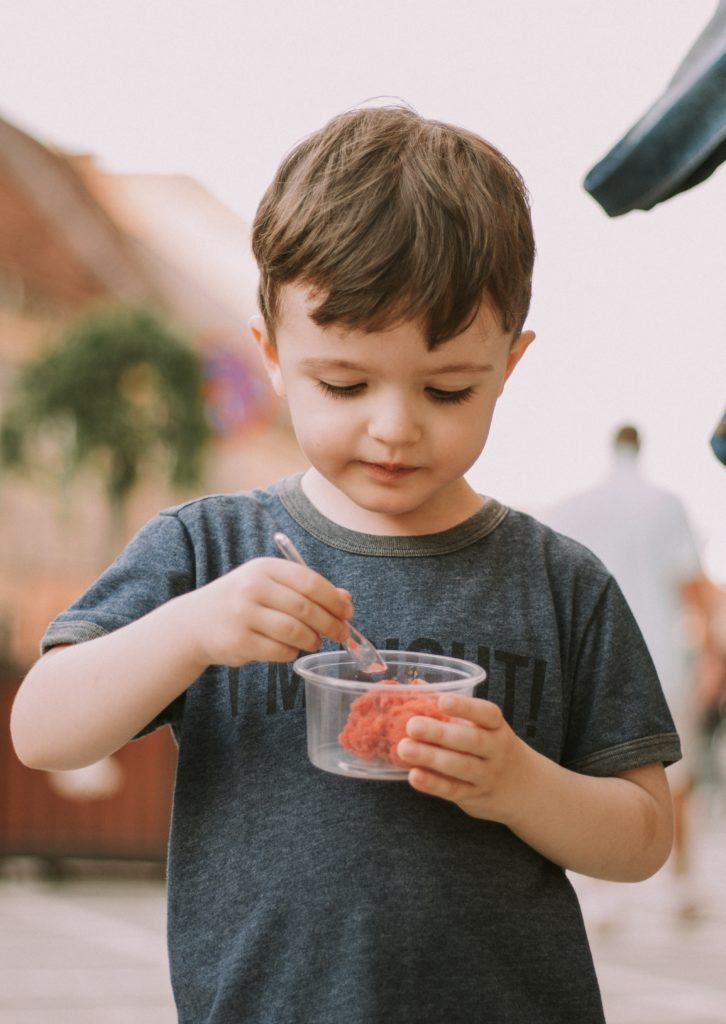 Boy with ice cream shows how sometimes as parents we have to do the wrong thing to get our parenting right.