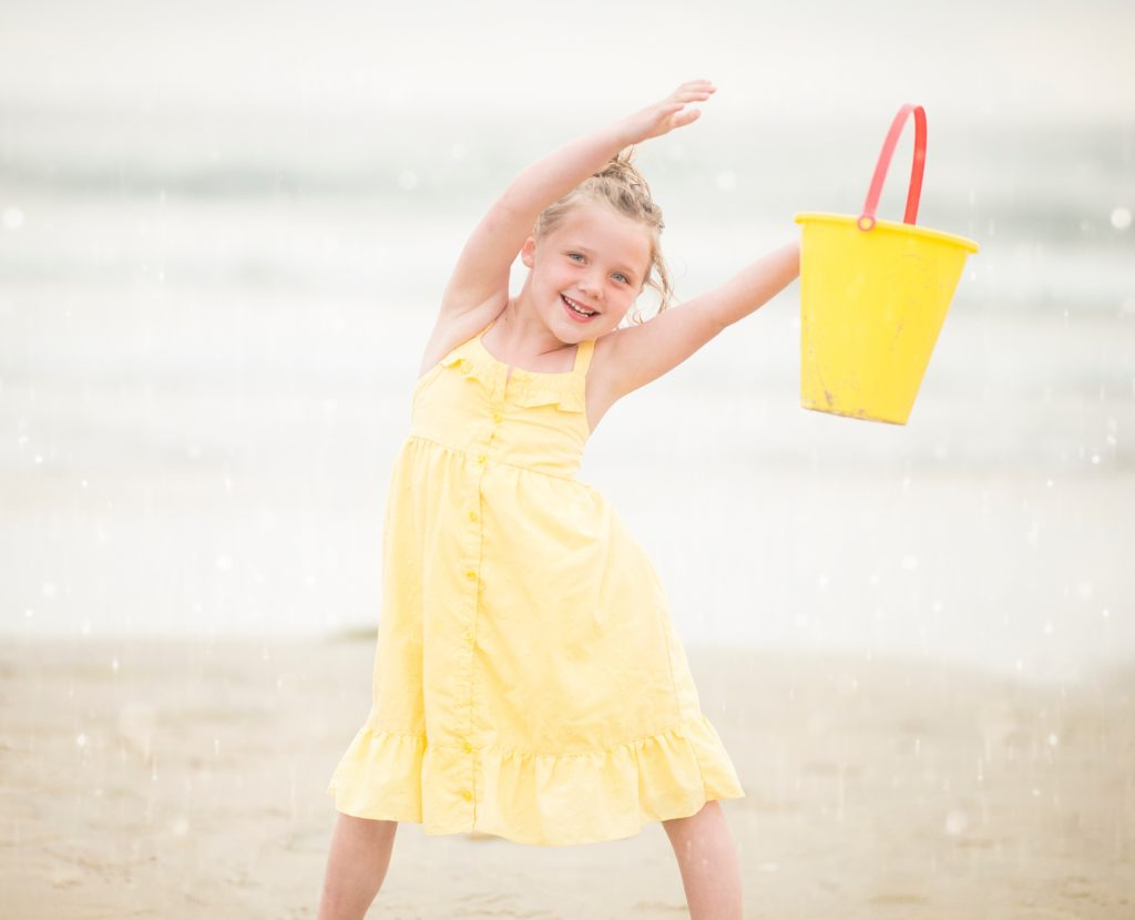 Happy girl on the beach from Alison Escalante MD