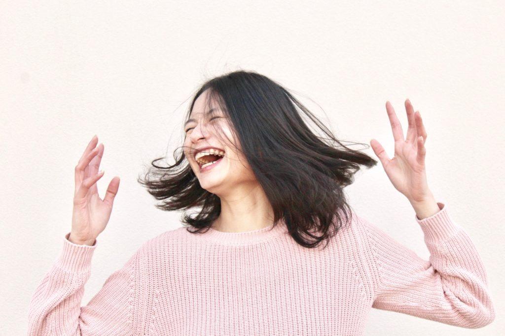 Happy free woman. Alison Escalante MD