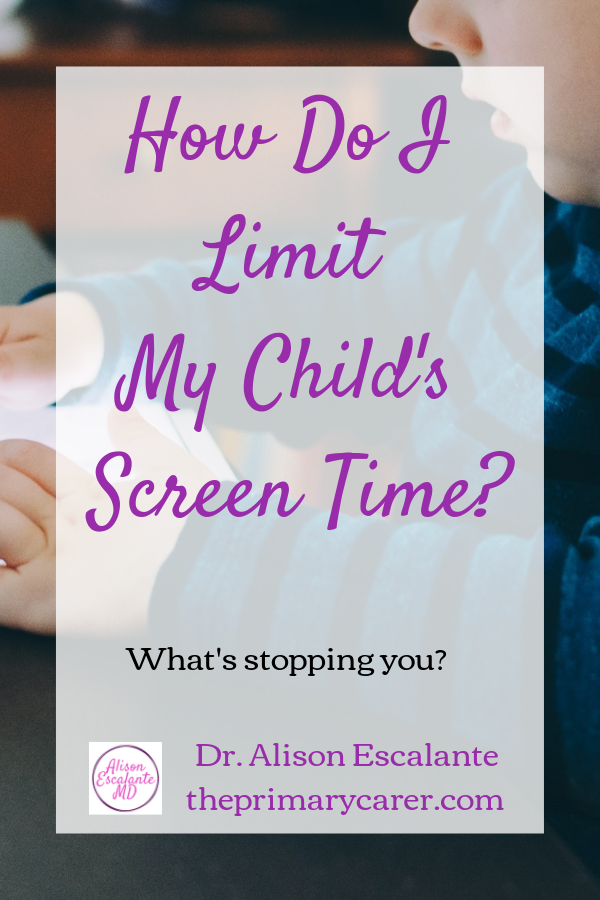 How do I limit my child's screen time? Every parent struggles with this, and there are practical tips to try. But have you ever wondered why it's so hard to limit their screen time in the first place? Alison Escalante MD #screentime #parentinghacks #parentingtips #shouldstorm
