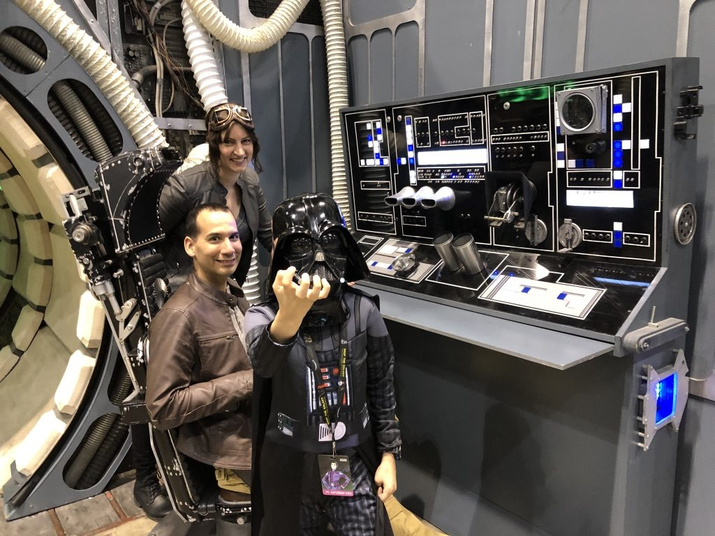 Darth Vader Photobomb. I had a Mom Meltdown at the Star Wars Celebration: here's what I learned. #mommeltdown #mommeltdownfunny #mommeltdownmothers #parentingtips #effectiveparenting