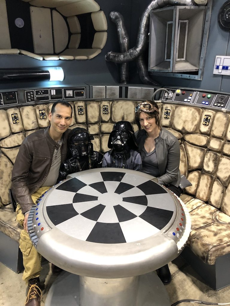 In the Millenium Falcon. I had a Mom Meltdown at the Star Wars Celebration: here's what I learned. #mommeltdown #mommeltdownfunny #mommeltdownmothers #parentingtips #effectiveparenting