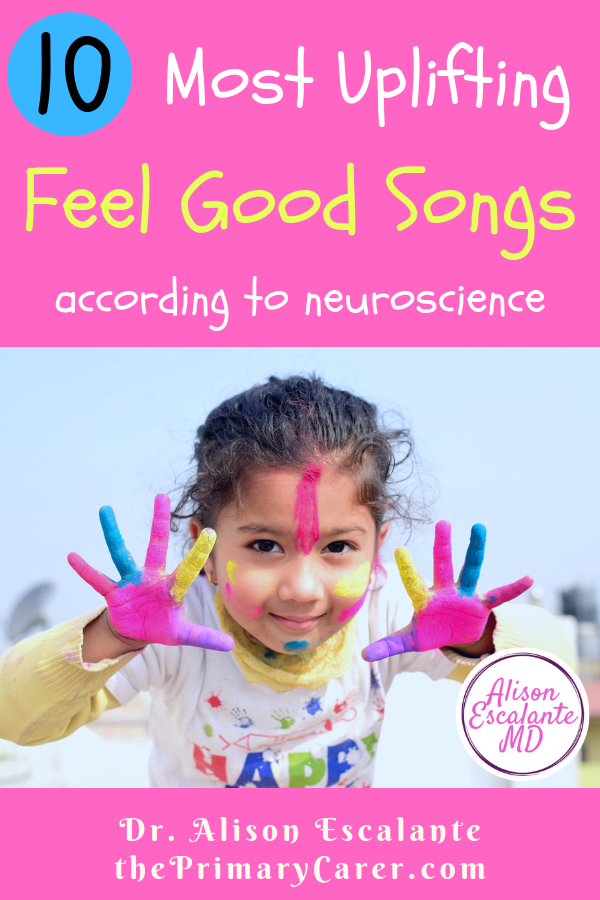 How to Hack Your Brain with Happy Music. Learn about the neuroscience of feel good music and get the 10 most uplifting feel good songs. #parentinghacks #happiness #feelgoodsongs #parentingtips