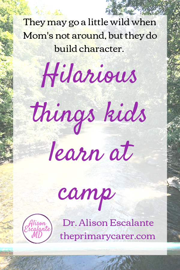 Hilarious Things Kids Learn at Camp. Summer camp can be a wonderful adventure for kids, and a growing experience for parents. My kids surprised me with the stories they told about summer camp. #summercamp #parentingtips #parentinghacks #activitiesforkids