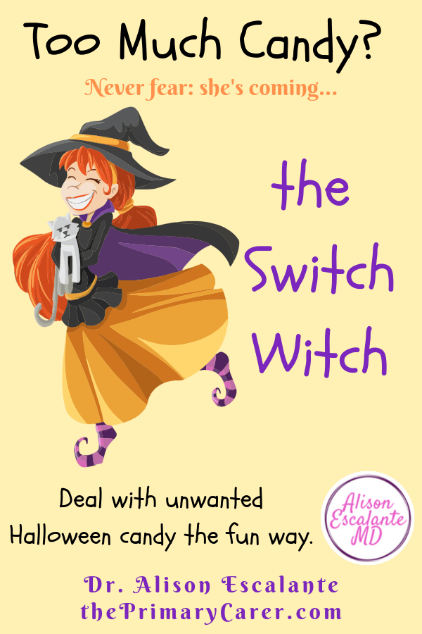 Never Fear, The Switch Witch Is Here. What do you do with all that leftover Halloween Candy? #switchwitch #halloween #parentingtips #parentinghacks