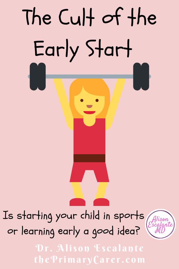 "Parents are told that kids need to start early and specialize to be successful. Whether in academics, music or sports, the pressure is on. But what if the ""cult of the early start"" is completely wrong? Evidence shows trying lots of things and specializing later is better for kids. #parenting #parentingtips #sports #health"