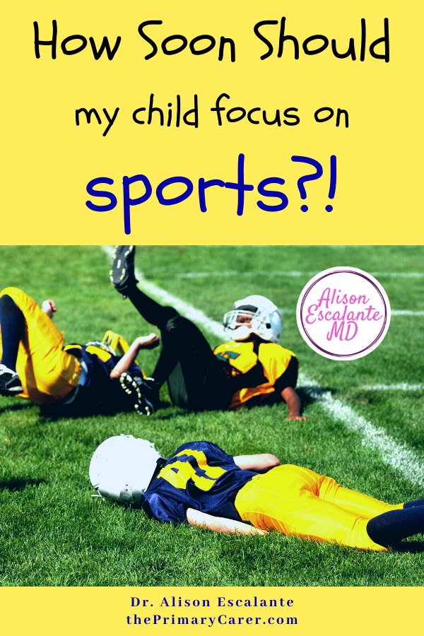 """Parents are told that kids need to start early and specialize to be successful. Whether in academics, music or sports, the pressure is on. But what if the """"cult of the early start"""" is completely wrong? Evidence shows trying lots of things and specializing later is better for kids. #parenting #parentingtips #sports #health"""