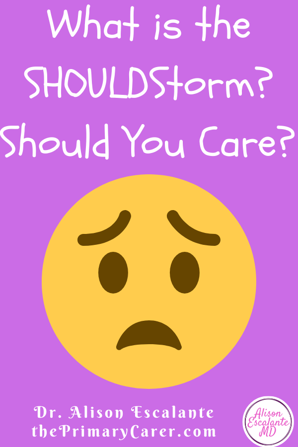 WHAT IS THE SHOULDSTORM and WHY SHOULD YOU CARE? Parents can't avoid the culture of criticism that pushes perfectionistic parenting. They are told everything they do matters, and that one little mistake could mess up their child for life. It's time to stop calling parents names or blaming them for helicopter parenting. #parenting #parentingtips #anxiety #shouldstorm