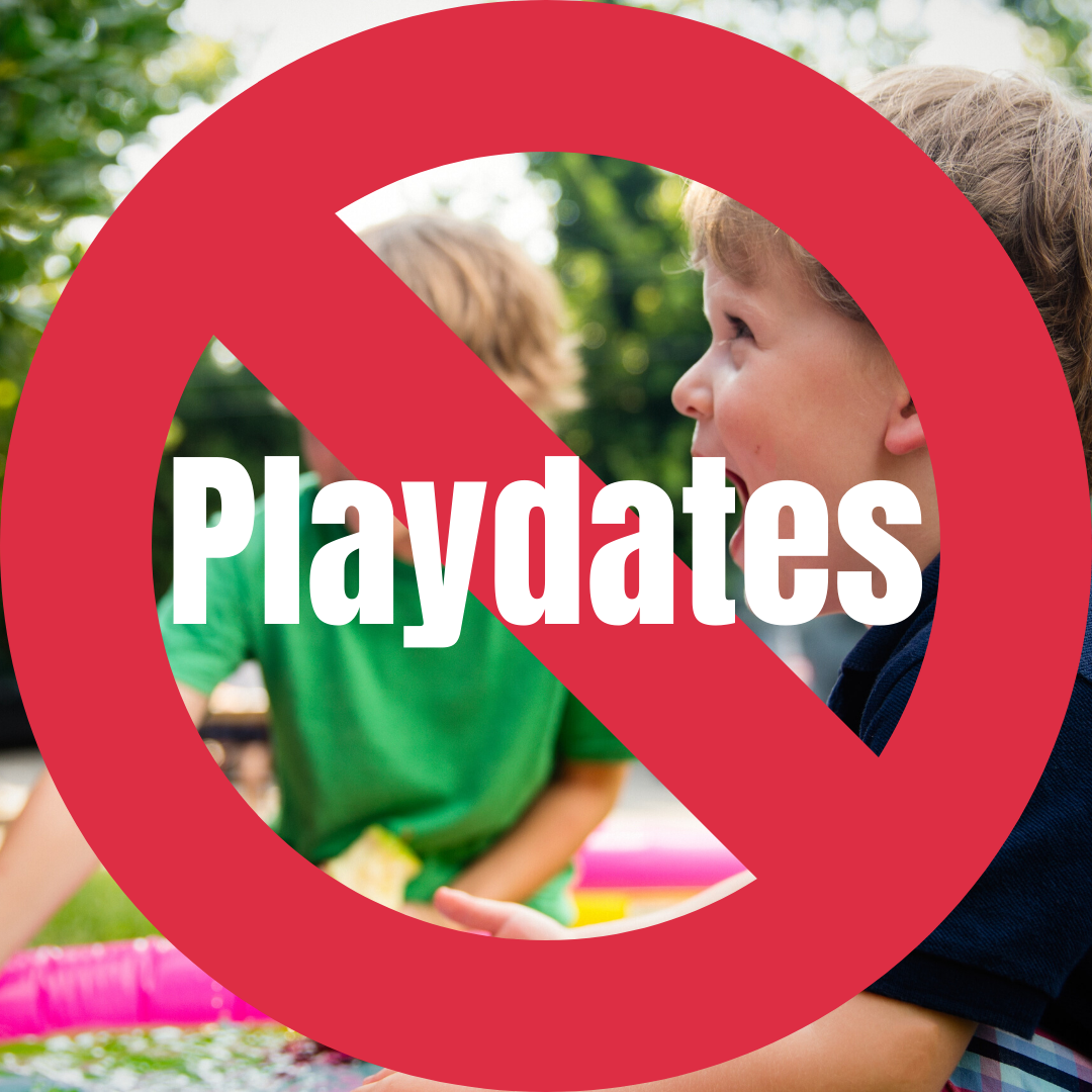 Why This Pediatrician Cancelled All Playdates. The kids are stuck at home and they are bored, but to protect our community and ourselves, this pediatrician mom said no more playdates or sleepovers. #COVID #parentingtips #pediatrician #safety