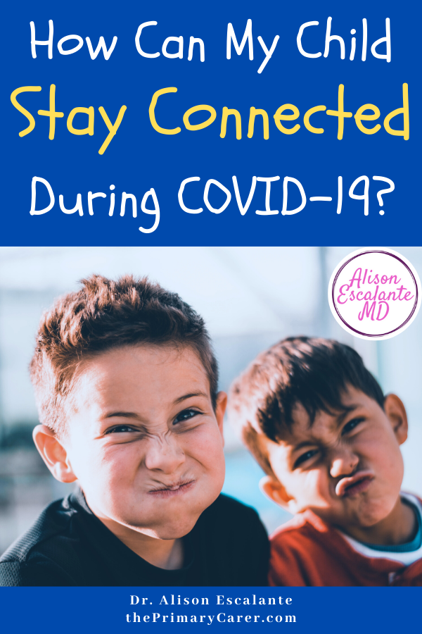 How Can My Child Stay Connected During COVID-19? Loneliness is a struggle the longer we stay home during the coronavirus pandemic. But there is some new science that can give parents ideas to help. A pediatrician shares her ideas on how to keep your child connected during COVID-19. #parentingtips #parenting #COVID #loneliness