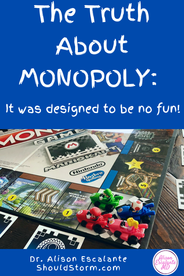 Every family plays Monopoly at some point. But did you know the game was never meant to be fun? That's why parents should avoid playing Monopoly with their kids at all costs. Learn the fascinating history of the game in this blog post. #familyfun #parentingtips #parenting #monopoly